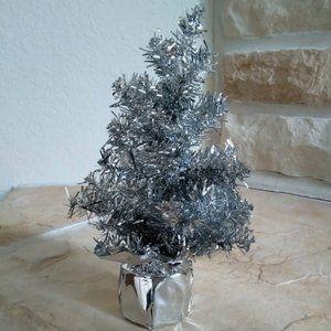 Mini Silver Tinsel Tree